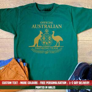 Australian-drinking-team-t-shirt-Papa-Frere-Fils-biere-Holiday-emigrer-Cadeau-Top