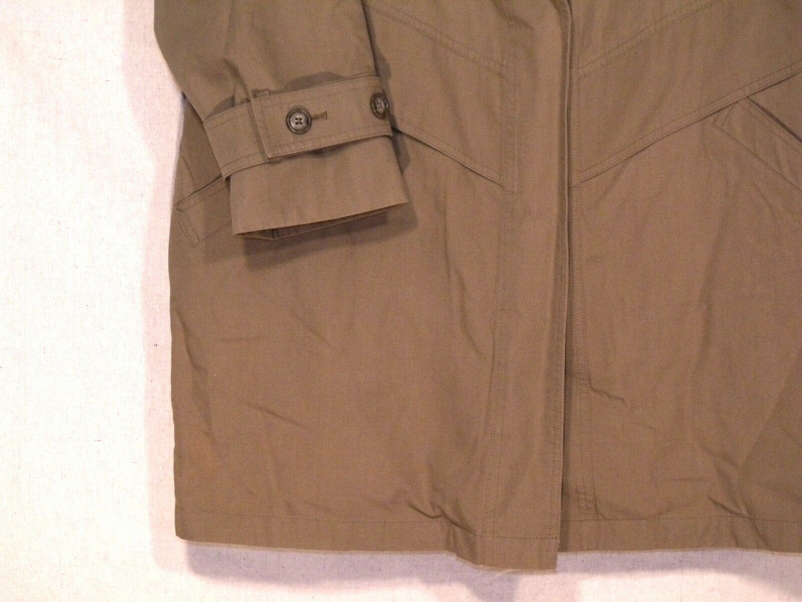 London Fog Towne VTG mid length lined taupe button button button coat   size 12R   great  b23 550b47