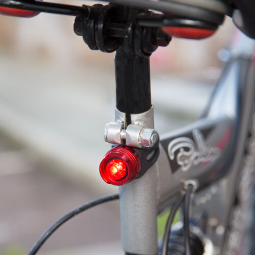 Set of 2 Aluminium LED Bullet Bicycle Light Front and Rear Bike Cycle Bicycle