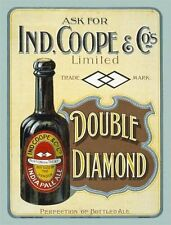 Ind, Coope & co, India Pale Ale, Old Bottled Beer, Pub Bar, Small Metal/Tin Sign