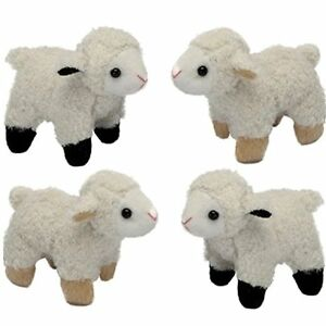 4 small lamb soft cuddly toys easter gifts suitable for all image is loading 4 small lamb soft cuddly toys easter gifts negle Images