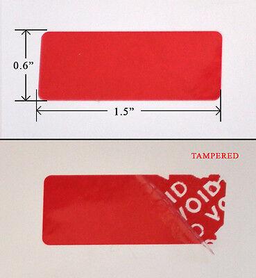 500 Black High Security Tamper Evident Warranty Void Labels//Stickers
