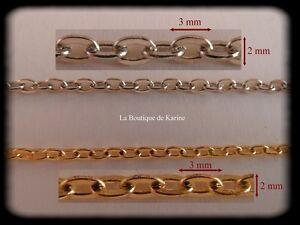 5-M-DE-CHAINE-METAL-ARGENTE-ET-OU-METAL-DORE-3-x-2-mm-CREATION-BIJOUX-PERLES