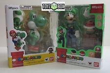 "In STOCK S.H. Figuarts ""Yoshi + Luigi"" (Super Mario Bros.) Bandai Action Figure"