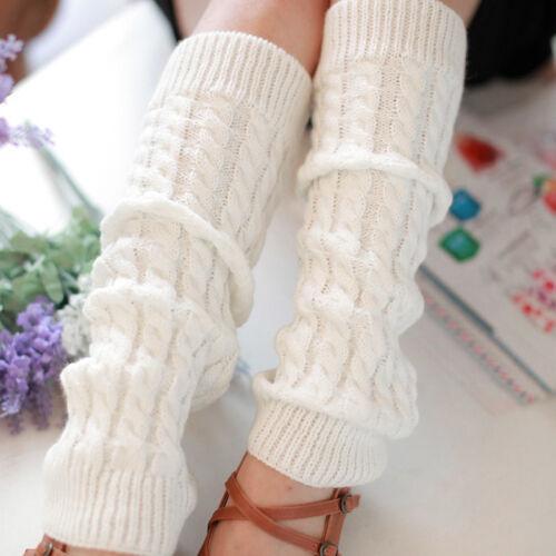 Men Winter Knit Thigh High Over The Knee Leg Warmers Socks Boot Cuffs Topper