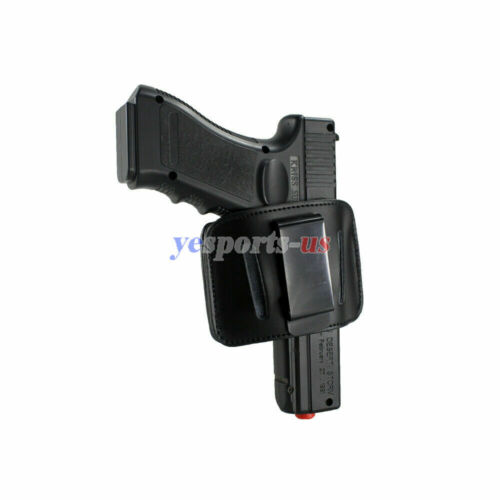 US Tactical Ambidextrous Leather Concealed Carry Holster IWB OWB Belt Holster