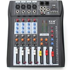 ELM CT-40S USB MP3 4 Channel Professional Live Studio Audio Mixer Mixing Console