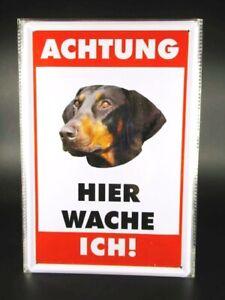 Tin Sign Doberman Dog Metal Sign 30cm, Metal Shield