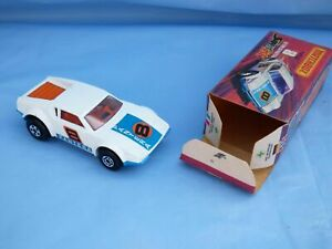 Matchbox-Superfast-N-8-Vintage-1975-Blanco-De-Tomaso-Pantera-Base-Azul-Coche-de-juguete