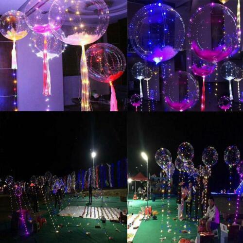 LED Colorful String Light Balloon Christmas Home Garden Party Decor Helium Hot