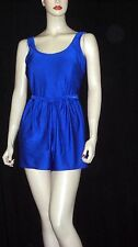VTG ROYAL BLUE 1 PIECE PLUS SZ SISSY SWIMSUIT SWIM DRESS BATHING SUIT SZ 16