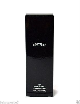 MAC M.A.C. Prep + Prime Fix+ Facial Spray Mist 100ml NIB