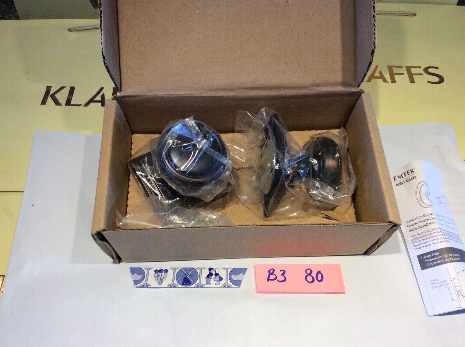 1 set Emtek C8161-NW Norwich Knob with Wilshire pinktte DUMMY oil rubbed bronze