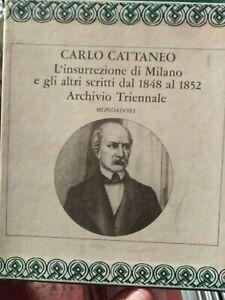 Classici-Mondadori-Cattaneo-Archivio-triennale-L-039-insurrezione-di-Milano-3-voll