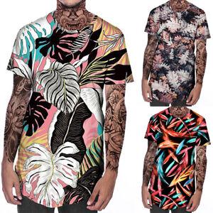 Hot-3D-Print-Men-039-s-Casual-Short-Sleeve-Graphic-Tee-Tops-Summer-Sports-T-Shirt