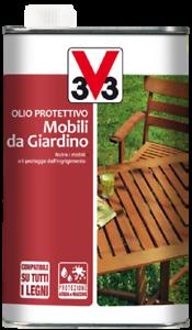 OLIO PROTETTIVO PER MOBILI DA GIARDINO TRASPARENTE 0,5LT V33