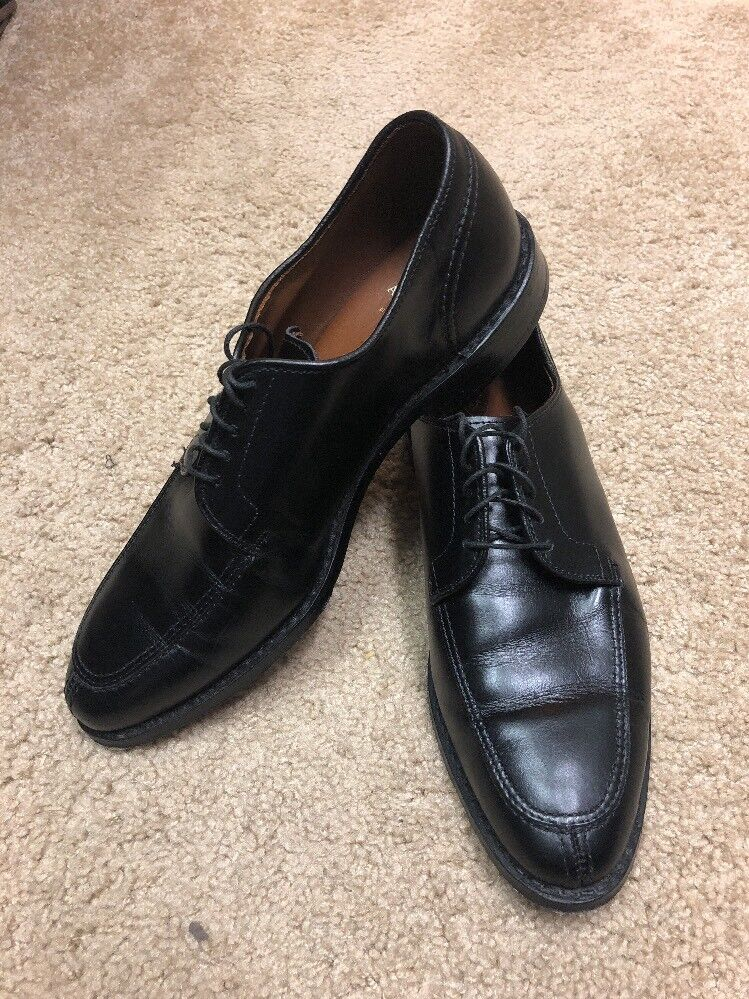 Allen Edmonds Walton Black Split-Toe Oxford Size 8 D