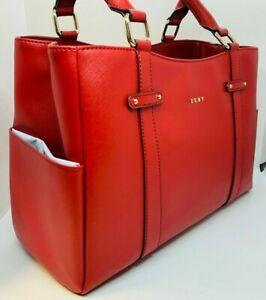 Genuine-DKNY-Red-Saffiano-Tote-Bag-BRAND-NEW