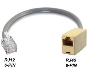 Rj12 Rj11 6p6c 6-pin Mâle Vers Rj45 Ethernet Cat5 Femelle 6p6c6-pin Adaptateur Réseau-afficher Le Titre D'origine Sti2jeiw-07161335-748049864