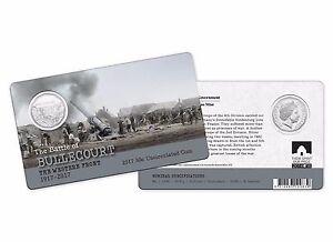 The battle of VILLERS-BRETONNEUX 2018 Australia Carded 50c Unc Coin