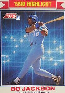 Details About 1991 Score Bo Jackson 420 Baseball Card