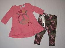 NWT DKNY 2pc set 3/4 sleeve shirt GIRL size 12M pink