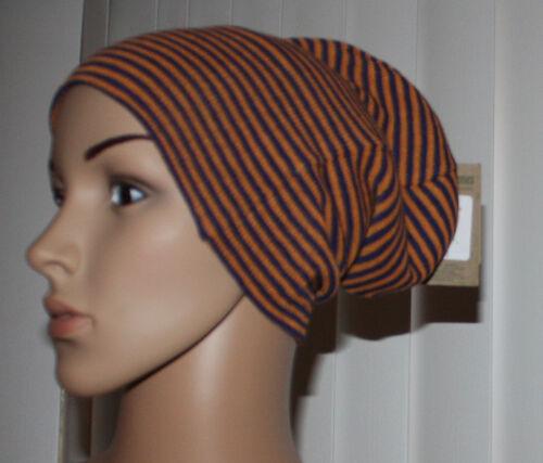 Volcom V CO LOVES Women/'s Blue /& Orange Striped Reversible Beanie Hat Sz OS  **