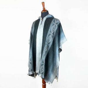 Lightweight-Baby-Alpaca-Wool-Cape-Poncho-Pullover-Coat-Handmade-in-South-America