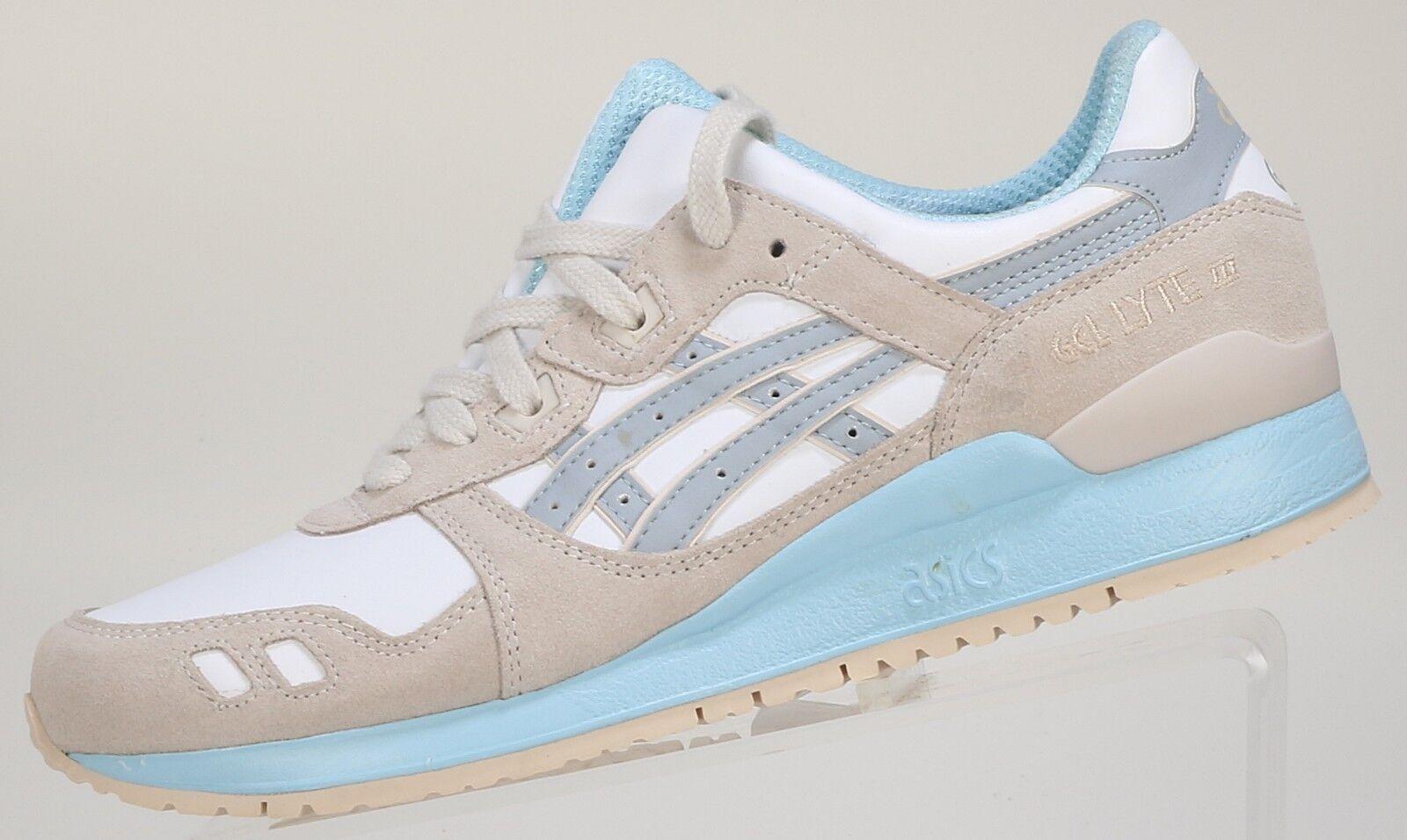 Asics de mujer Gel-Lyte III Zapatillas blancoo blancoo blancoo Luz gris H6U9L Correr Caminar Tren  para proporcionarle una compra en línea agradable