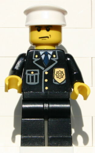 Lego City Police Officer Various Faces and Color Hats