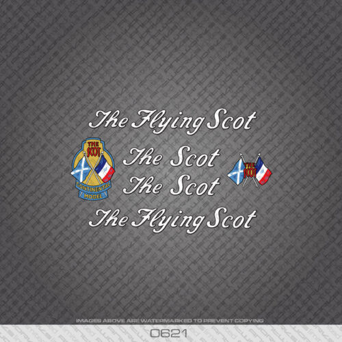 0621 The Flying Scot Bicycle Frame Stickers - Decals - Transfers