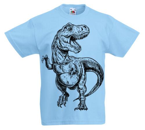 kids Dinosaur T-Shirt 3-13 year old boys Jurassic childrens Gift T Rex z1