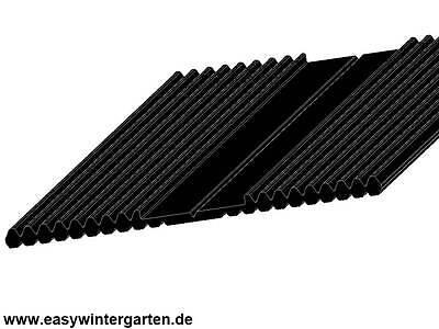 Rillengummi 60 Mm Breit Epdm Gummi Schwarz Für Die Glasauflage Entlastung Von Hitze Und Sonnenstich Radient Unterleggummi