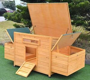 Deluxe 69 Large Wood Chicken Coop Backyard Hen House With 4