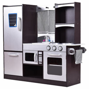 Details about Kids Child Realistic Modern Pretend Kitchen Cooking Play Toy  Chef Set Storage