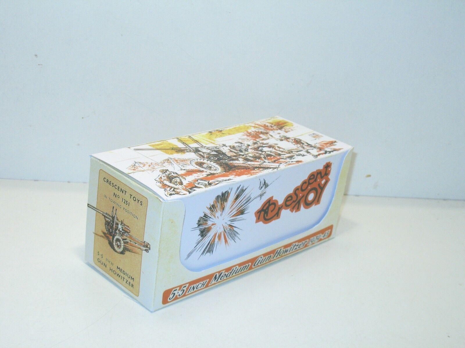 N147, caja repro MEDIA LUNA ROJA TOYS, canon 5.5 pulgadas , militar