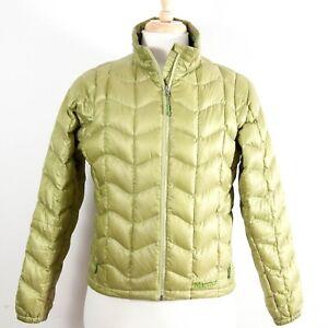 Marmot-Lightweight-Down-Jacket-Full-Zip-Puffer-Green-Women-039-s-Medium