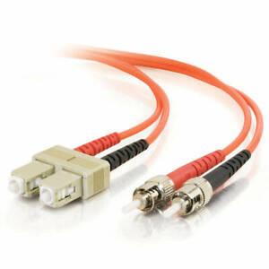 Corning 10M SC-ST Duplex 62.5/125 Multimode Fiber Cable Orange Optic 35FT