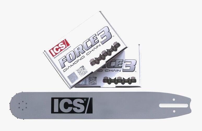 Set 2 Diamantketten + Schwert ICS Force3 35   ICS 633GC 695GC 6695XL GC, 40 cm