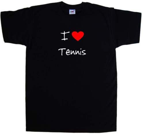 I Love Heart Tennis T-Shirt