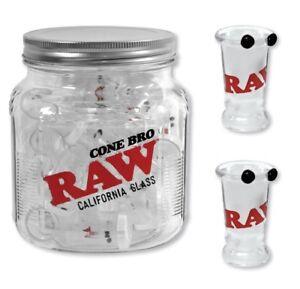 Lot-of-2-New-Raw-California-034-CONE-BRO-034-Glass-Tip-Cigarette-Holders