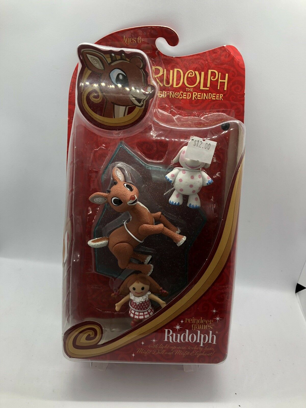 Rudolph Red Nosed Reindeer Games Action Figure Misfit Doll Elephant MIP 2009 B