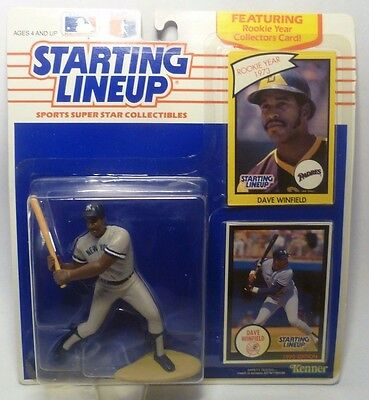 Blue Kenner Starting Lineup Card NEW YORK YANKEES 1990  DAVE WINFIELD