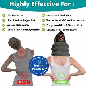 Neck-Brace-Support-Cervical-Air-Inflatable-Traction-Therapy-Massager-Device