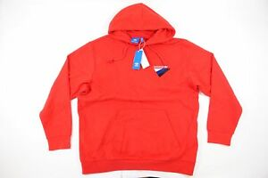 felpa adidas uomo rossa xl  Adidas Rosso XL Felpa con Cappuccio Maglione Pullover Uomo Nwt ...