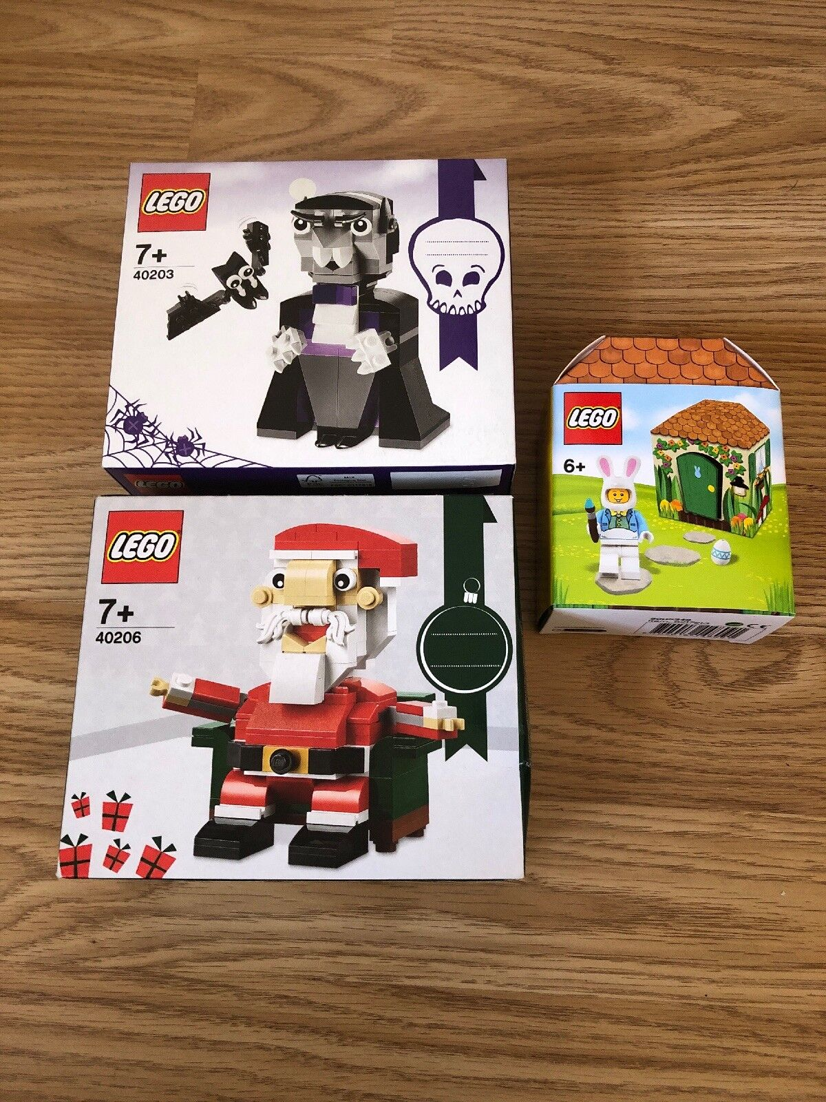 LEGO 40206 SANTA CHRISTMAS SET 40203 DRACULA AND EASTER SET - NEW SEALED 2016