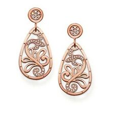Genuine Thomas Sabo Rose Gold on Silver CZ Floral Tear Drop Earrings H1797 £215