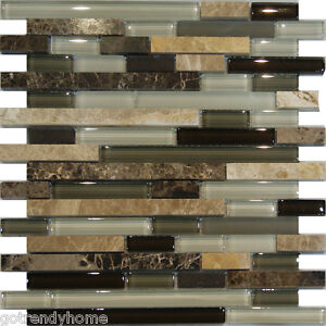 Image Is Loading 10sf Marble Stone Green Brown White Gl Linear