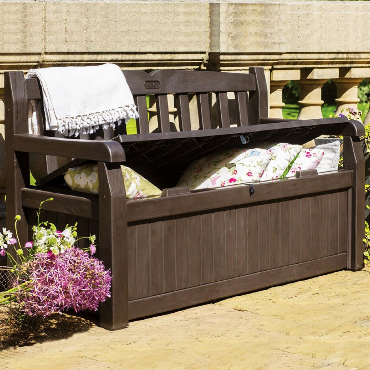 Patio Storage Bench Seat Garden Deck