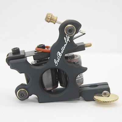 New Pro GBL Tattoo Machine Gun Black Iron for shader 10 Wrap Coils Supply
